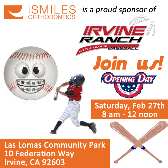 Irvine Orthodontist Braces Invisalign Little League Baseball Opening Day