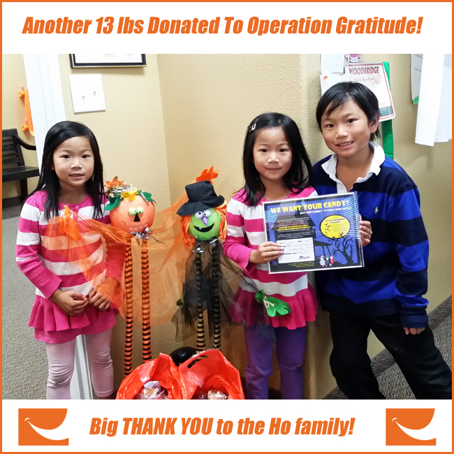 Irvine Orthodontics Braces Operation Gratitude Candy Donation iSmiles