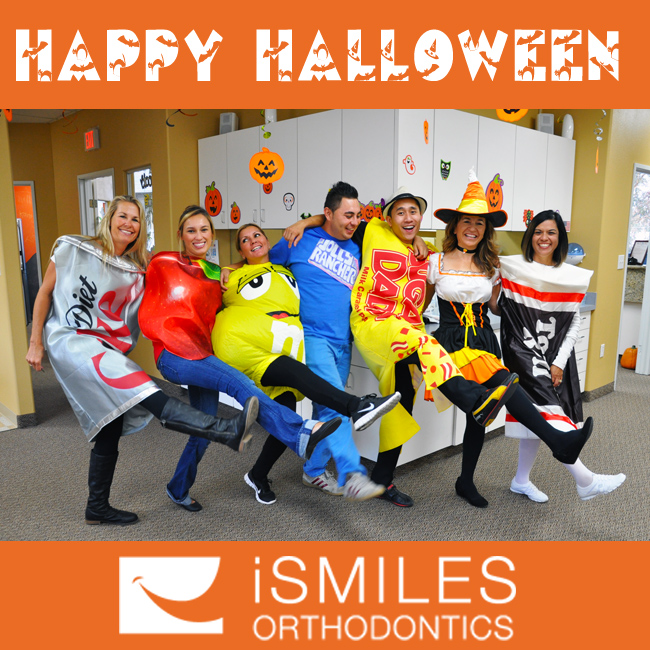 Irvine Orthodontics iSmiles Braces Happy Halloween Can-Can Dance Candy