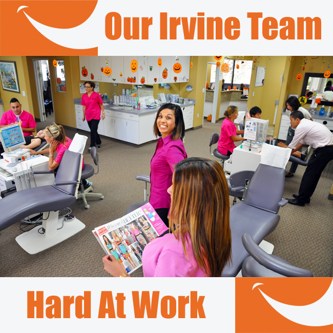 Irvine Orthodontics Braces Team Happy Work Smiles All Around Love What We Do